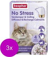 Beaphar No Stress Verdamper Met Vulling Kat - Anti stressmiddel - 3 x 30 ml
