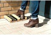 Borstelmat voor laarzen en schoenen - set van 2 stuks
