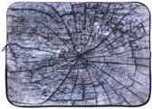 ZUMPREMA Laptop Sleeve Grey wood - 15,6 inch - Grijs