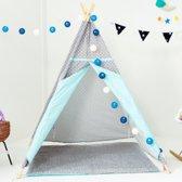 Blitsr Tipi Speeltent voor Kinderen - Inclusief accessoires - Grijs / Blauw