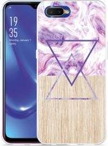 Oppo RX17 Neo Hoesje Color Paint Wood Art