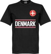 Denemarken Keeper Team T-Shirt - Zwart  - XS