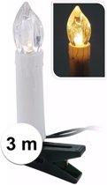 Kaarsen kerstlampjes/lichtjes clip helder wit binnen 10 lampjes