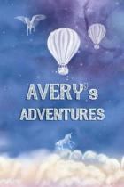 Avery's Adventures: Softcover Personalized Keepsake Journal, Custom Diary, Writing Notebook with Lined Pages