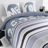 Snoozing Christy flanel dekbedovertrek Blauw 1-persoons (140x200/220 cm + 1 sloop)