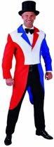 Hollandse Vlag slipjas in rood, wit, blauw   Nederlandse verkleedkleding heren maat L