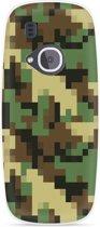Nokia 3310 (2017) Hoesje Pixel Camouflage Green
