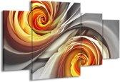 Canvas schilderij Roos | Grijs, Geel | 160x90cm 4Luik