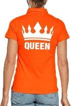Koningsdag poloshirt Queen oranje voor dames S