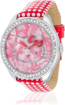 Hello Kitty - Horloge - Leer - 45 mm - Rood