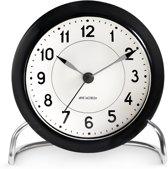 Arne Jacobsen table clock Station black/white