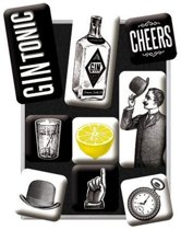 Cheers Gin Tonic Magneet Set
