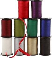 Cadeaulint - Assortiment, b: 10 mm, kleuren assorti, mat, 10x250 m