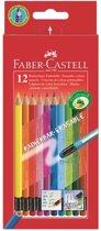 Kleurpotlood Faber Castell uitgumbaar etui à 12 stuks