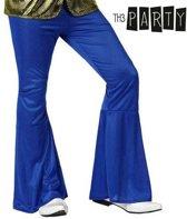 Donkerblauwe discobroek voor mannen - Verkleedkleding - XL