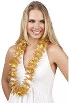 6 gouden Hawaii kransen