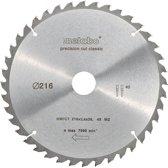 Metabo Cirkelzaagblad HW/CT 216x30mm 40 tands WZ