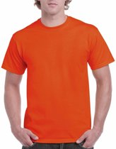 Oranje katoenen shirt voor volwassenen L (40/52)