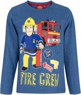 Brandweerman-Sam-T-shirt-met-lange-mouw-blauw - Maat 128