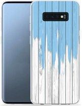 Galaxy S10 Lite Hoesje Dripping blue paint