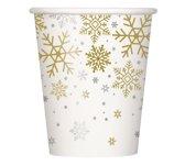 Haza Original Feestbekers Holiday Snowflakes 250 Ml 8 Stuks Wit