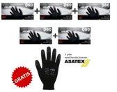 Qtop nitril wegwerp handschoenen latex-en poedervrij - zwart - maat M