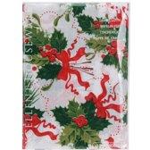 Excellent Houseware Tafelkleed - Kerst Hulstakken - 180x130 cm - Wit