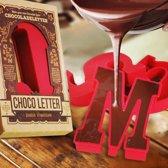 MikaMax - Chocoladeletter Mallen - Siliconen Mal - D - Rood