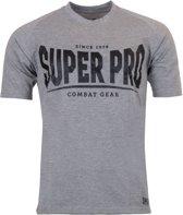 Super Pro T-Shirt S.P. Logo Grijs/Zwart Medium