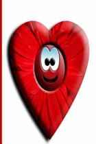 Journal Smiling Happy Face Heart Red Flower