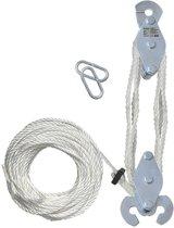 Handtakel met 20 meter nylon touw