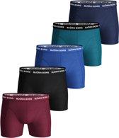 Bjorn Borg Basic Seasonal Solids Boxershorts Heren Sportonderbroek - Maat XL  - Mannen - blauw/zwart/rood