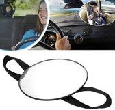 Achterbank Autospiegel - Baby & Kind Auto Spiegel - Baby Spiegel - Baby Veiligheid - Zwart/Silver