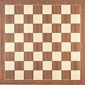 Luxe schaakbord mahonie en esdoorn 40 cm met notatie - veldmaat 45 mm - maat 4