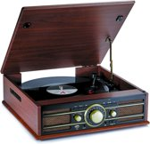 Bigben TD103 Retro Koffer Platenspeler - AM/FM Radio - USB - Hout