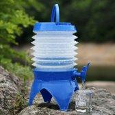 Multi-functioneel Outdoor Camping telescopische vouwen intrekbare bier Water opslag emmer drinkwater buiten Tools  capaciteit: 5L(Blue)