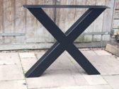 Stalen X Poot | X-onderstel | Industrieel Tafelonderstel