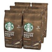 Starbucks® House Blend Medium Roast Gemalen Filterkoffie - 6 x 200 gram