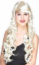 Lange gekrulde blonde glamourpruik voor vrouwen - Verkleedpruik - One size