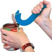 Aidapt blikopener blauw - plastic