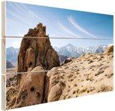 Rotsvorming in woestijn Amerika Hout 120x80 cm - Foto print op Hout (Wanddecoratie)
