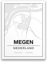 Poster/plattegrond MEGEN - A4