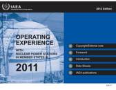 Operating Experience with Nuclear Power Stations in Member