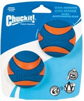 Chuckit ultra squeaker bal medium 6 cm 2-pack
