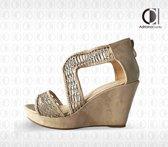 Sandalen op Sleehak - Alegria - Dames - Maat 39 - YD-HY-607 BEIGE