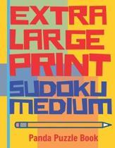 Extra Large Print Sudoku Medium