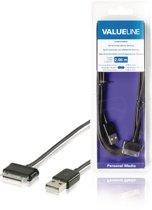 Valueline VLMB39200B20 mobiele telefoonkabel Zwart USB A Samsung 30-pin 2 m