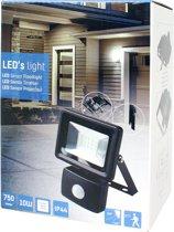LED's Light floodlight 10W 750Lm 4000K IP65 met sensor