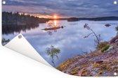 Zonsondergang bij het Nationaal park Tiveden in Zweden Tuinposter 180x120 cm - Tuindoek / Buitencanvas / Schilderijen voor buiten (tuin decoratie) XXL / Groot formaat!