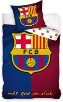 Fc Barcelona Dekbedovertrek Logo 140x200 Cm Rood/blauw/wit 63x63 Cm